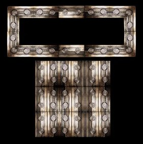 Stonelight Tile San Jose CA Custom Tile  architectural-art-deco-panel-3: