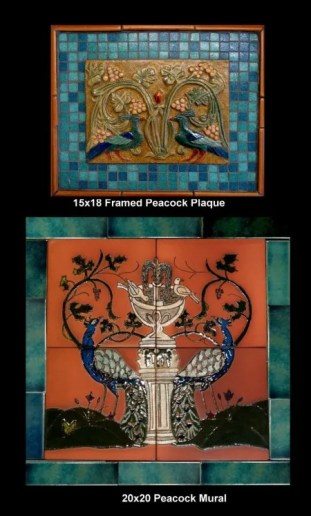 Stonelight Tile San Jose CA Custom Tile  peacock-medallion-and-mural: