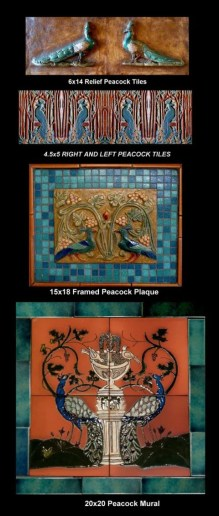 Stonelight Tile San Jose CA Custom Tile  peacock-tiles-murals-and-plaques: