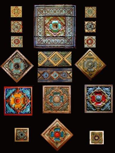 Stonelight Tile Inc San Jose CA Custom Tile tudor-rose-series: