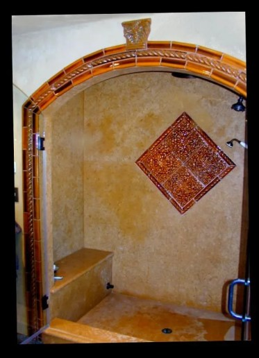 steam shower with medallion