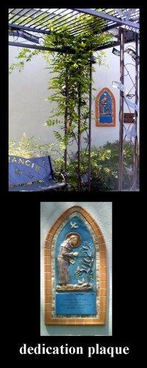 st francis plaque
