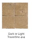 Dark or Light Travertine