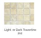 Light or Dark Travertine