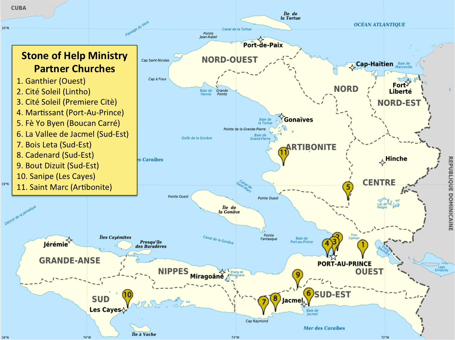 Supporting Haiti Churches With Discipleship And Bible Training - Map of haiti and us