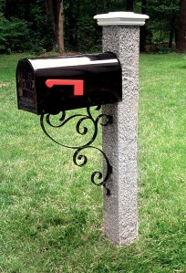 wood-cap-iron-bracket-granite-post