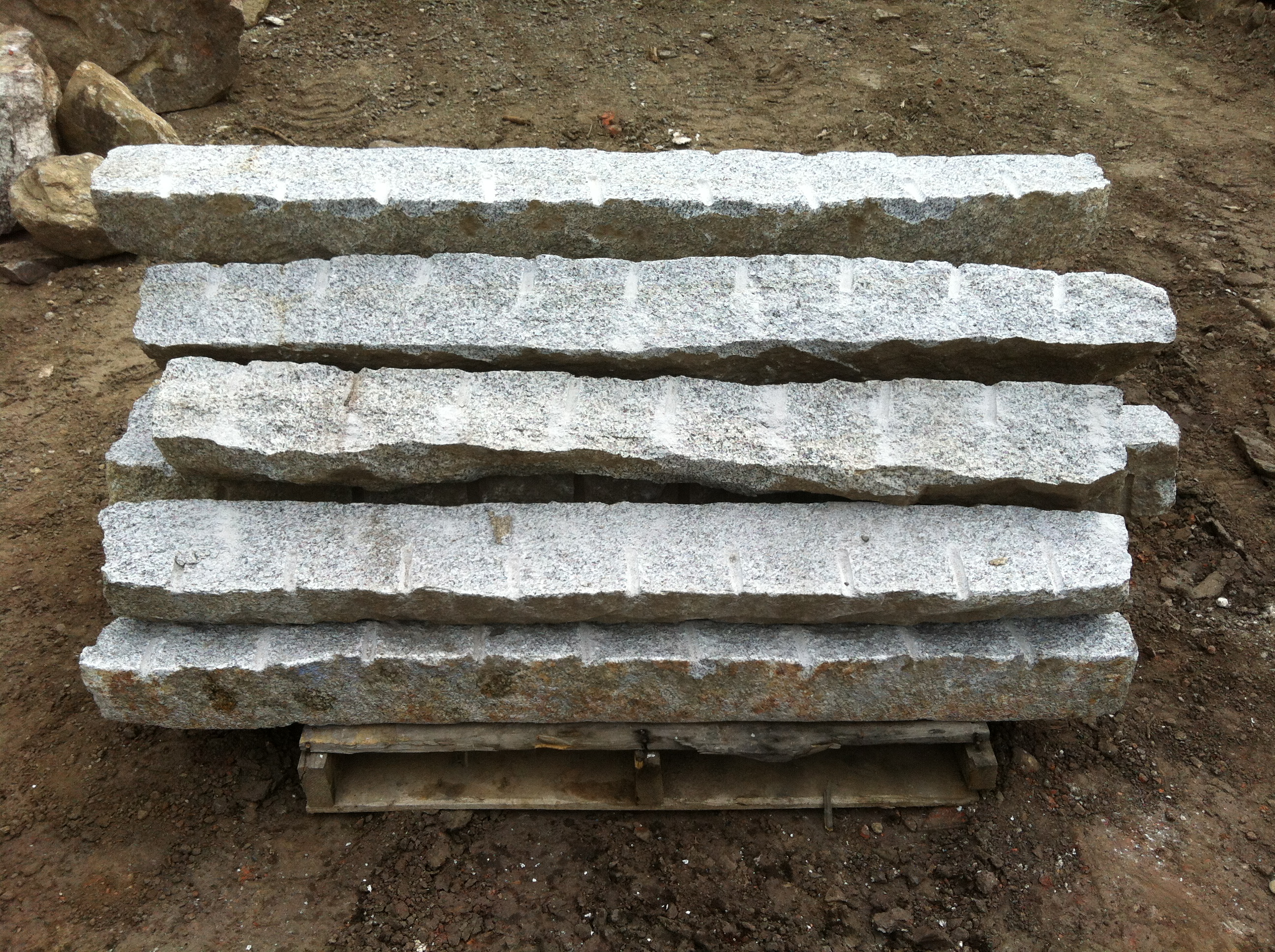 Granite Stone Edging : Reclaimed and salvaged granite curbing stone of new england