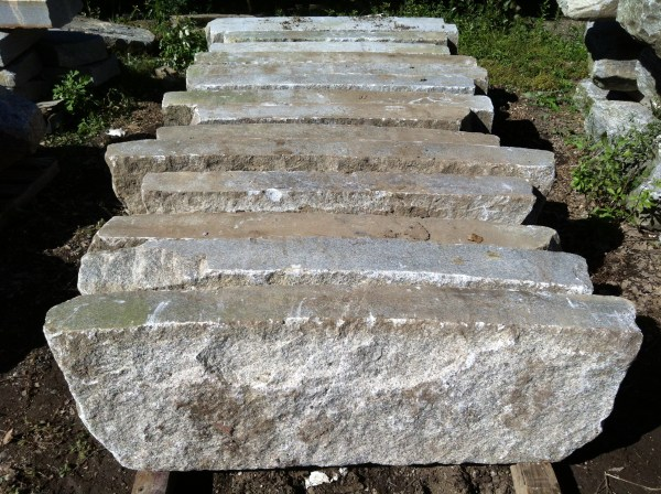 Reclaimed Radius Granite Curbing