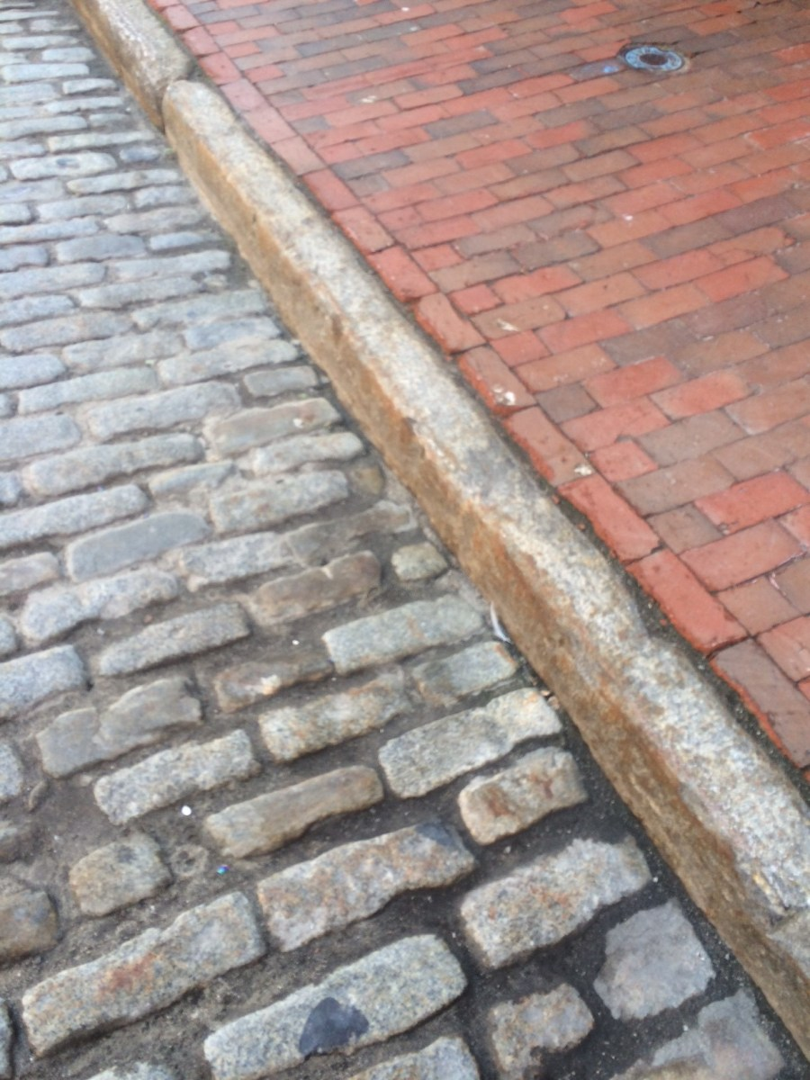 Used Cobblestone, Granite Curbing and Clay Brick Pavers