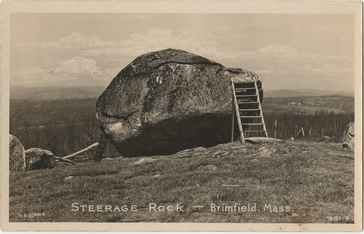 Steerage Rock Brimfield Ma Post Card