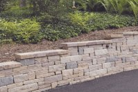 Ideas for retaining wall along driveway, natural ...