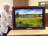 Midge Bakos & painting dedicated in her honor 6-7-15