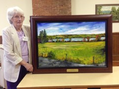 Midge Bakos & painting dedicated in her honor 6-7-15