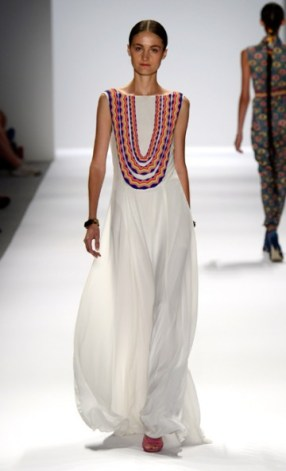 White Goddess Dress with Opulent Neckpiece