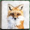 Fox Cow Marble Coaster Flat