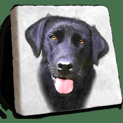 Black Labrador Marble Coaster