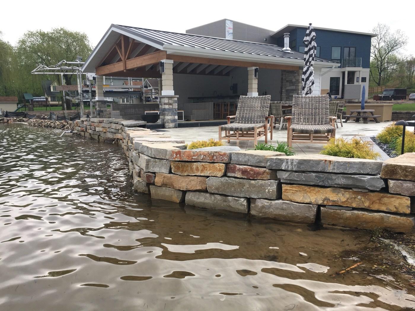 patio brick pavers planting design