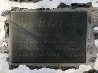 Stone Ridge Library, Dedication Plaque