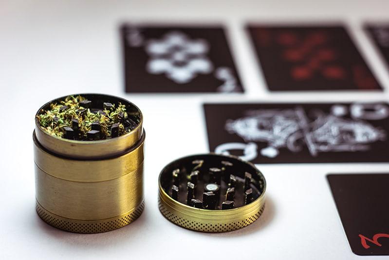 gold weed grinder