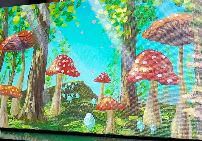 mushroom forest art