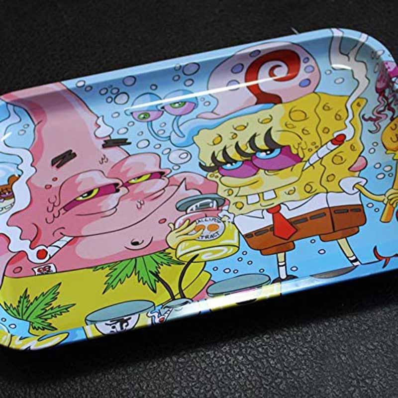 spongebob metal rolling tray