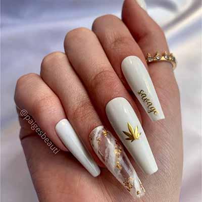 420 nails white