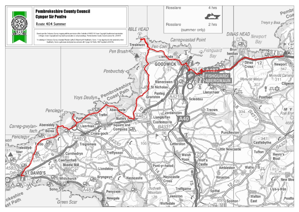 Public transport in and around Stones Cottages |Strumble Shuttle Summer Route