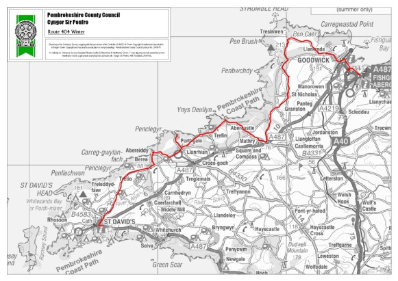 Public transport in and around Stones Cottages |Strumble Shuttle Winter Route