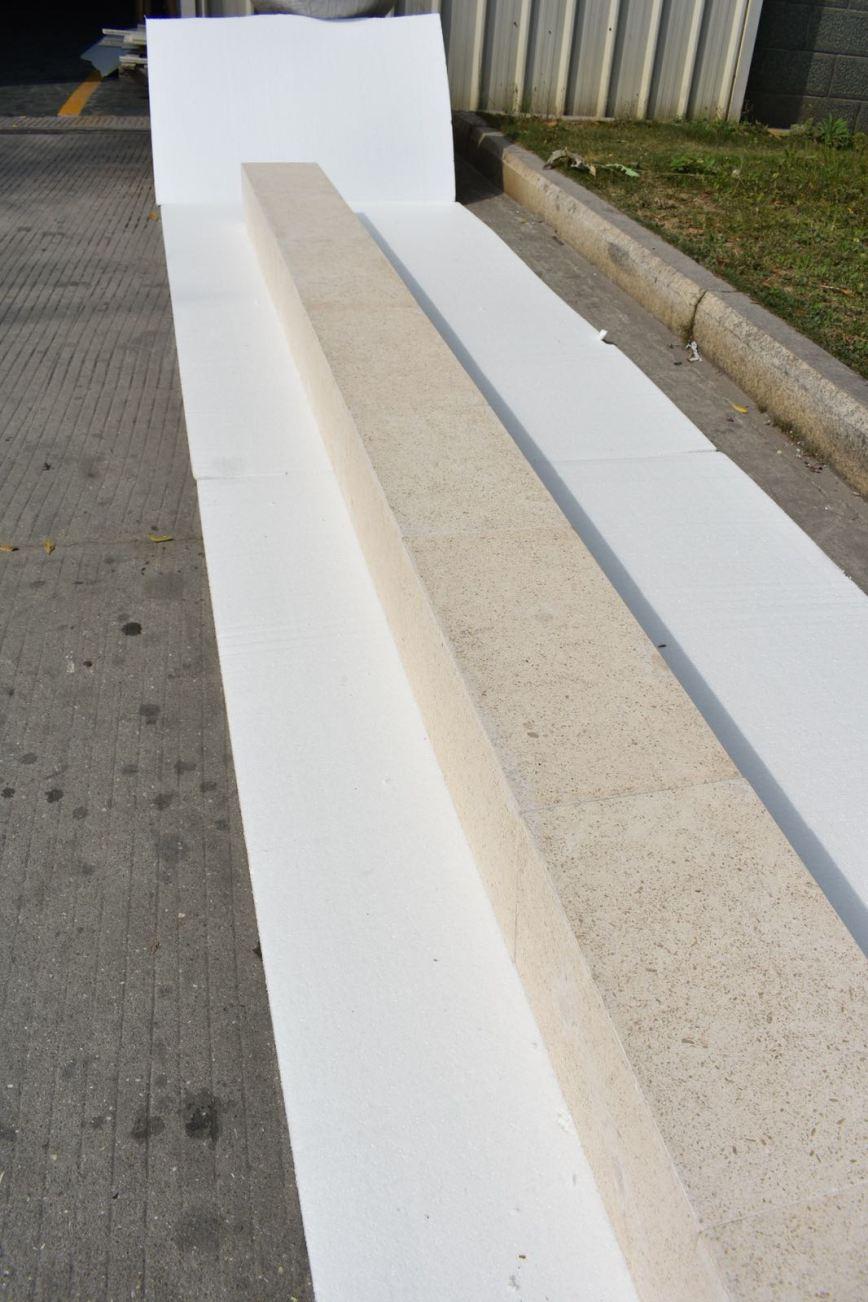 Big stone panel column.