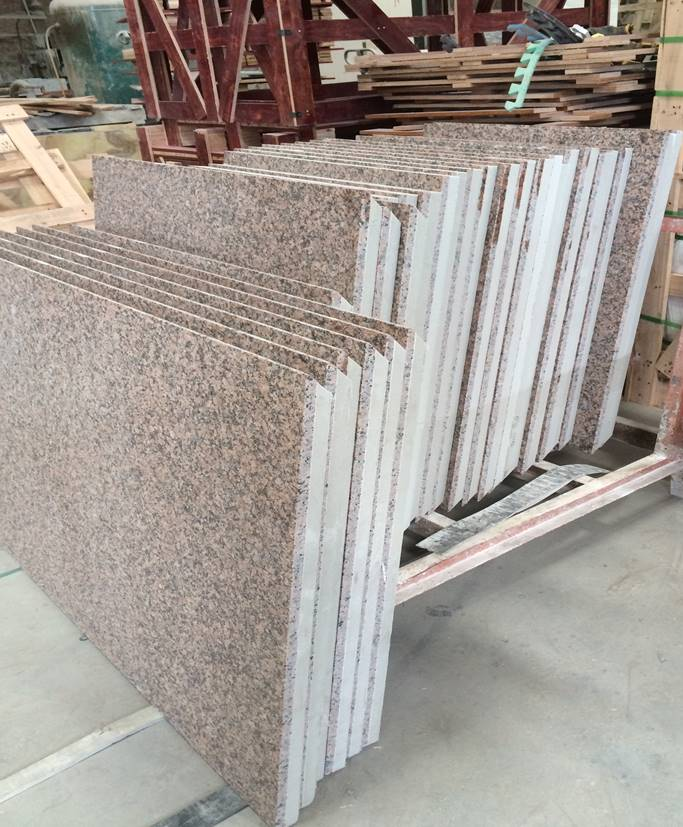 Granite faced external rainscreen panels