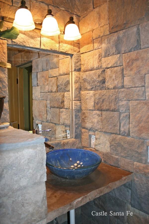 Create Mood In Bathroom With Stone Veneers