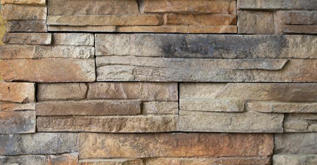 panneaux de pierre faux timber ledge