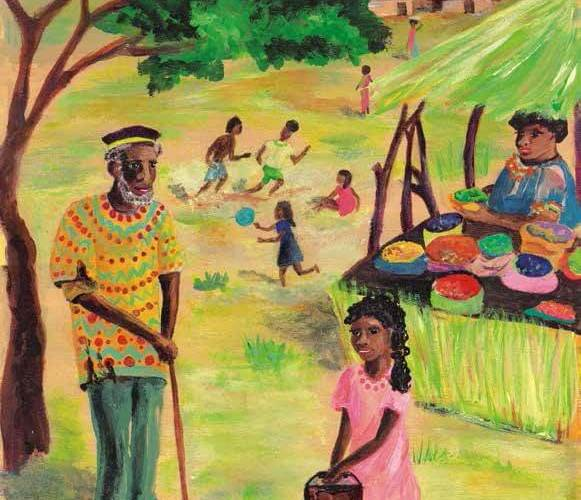 The Crystal River girl talking to an elderly