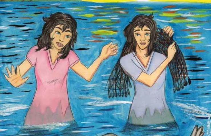 The Voice of the Seal sisters are swimming