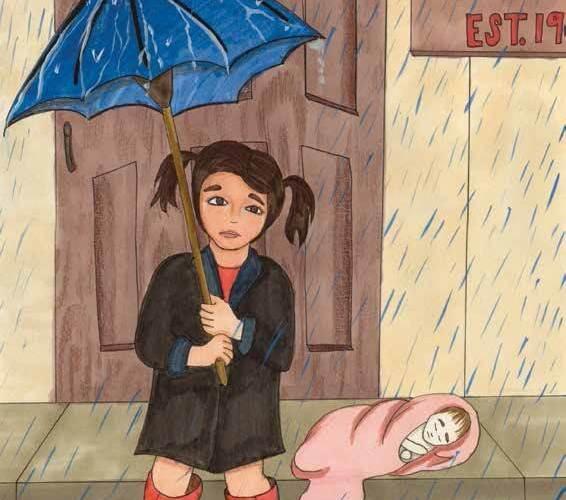 face your fears girl umbrella