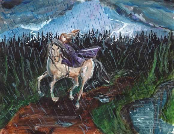 hero riding horse