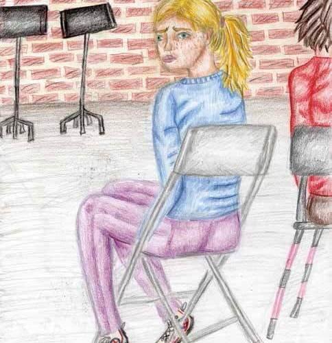 one last chance girl sitting
