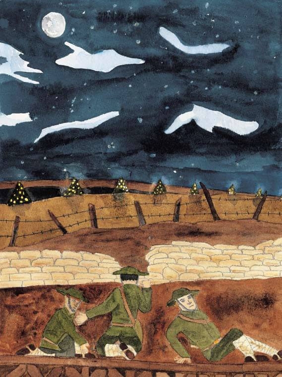 Stille Nacht at the ground during war
