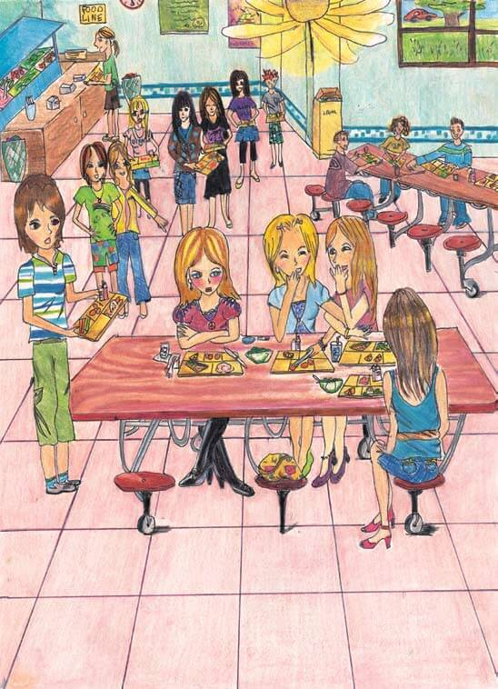 Mirror, Mirror school cafeteria