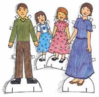The Blueberry Family paper dolls