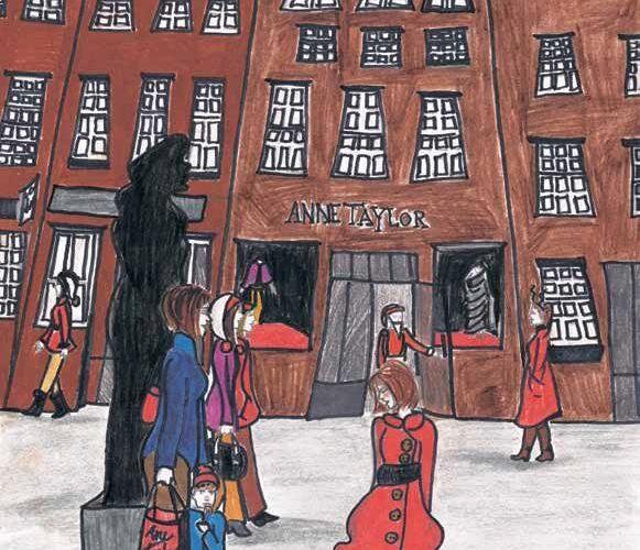 A Million Santas Invade New York City girl in santa coat