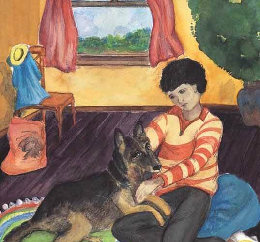Learning to Love boy with dog