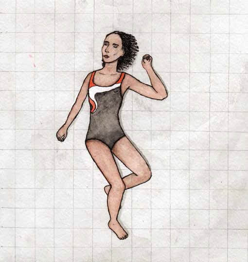 Climbing Higher girl in swimsuit