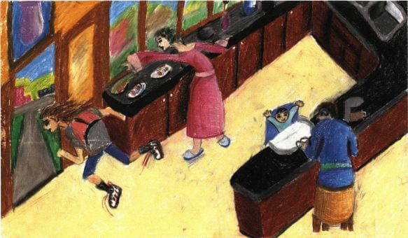 School Daze rushing for school