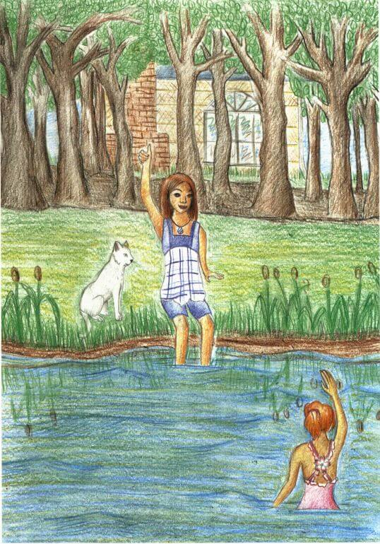 Memories of Moon girls swimming