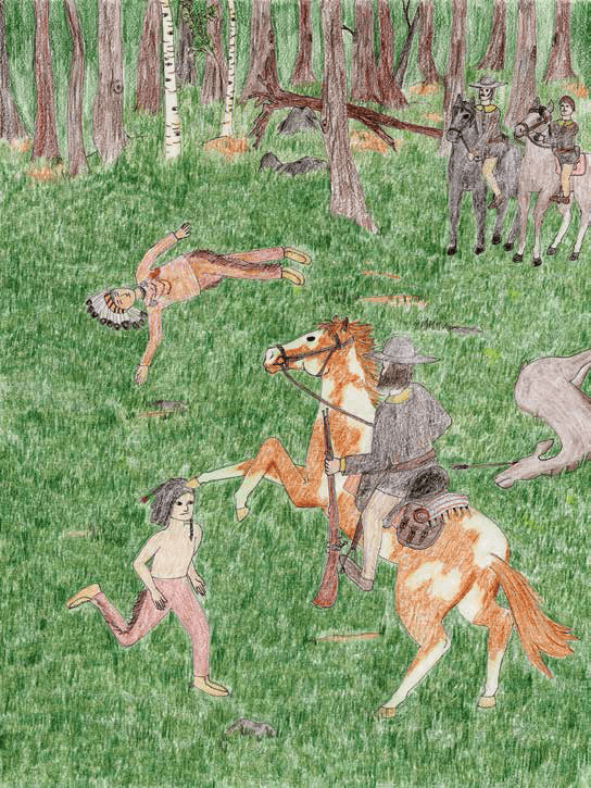Scarlet Spring horse hitting a man