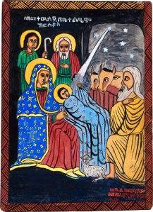 Three Holy Men, by Semachw Messfn, age 10, Ethiopia