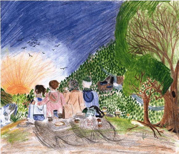 A Beautiful Memory family watching sunrise