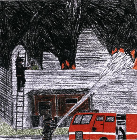 A Second Chance fireman putting out fire