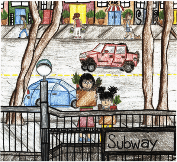 A Story to Tell girl and grandma in the subway
